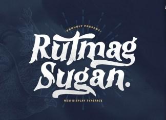 Rutmag Sugan Display Font