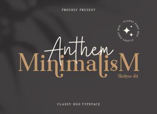 Anthem Minimalism Serif font
