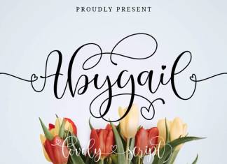 Abygail Calligraphy Font