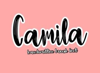 Camila Brush Font