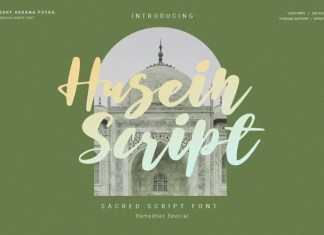Husein Script Font