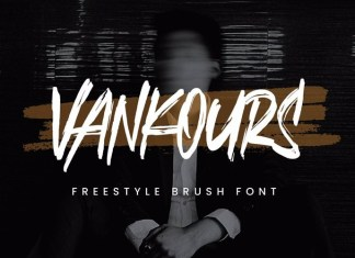 Vankours Brush Font