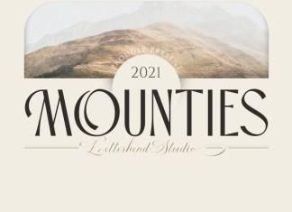 Mounties Display Font