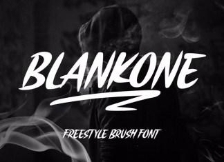 Blankone Brush Font