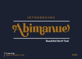 Abimanue Serif Font