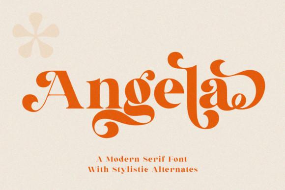 Angela Serif Font