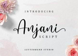 Anjani Calligraphy Font