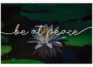 Be At Peace Handwritten Font