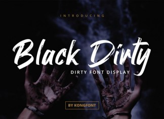 Black Dirty Brush Font