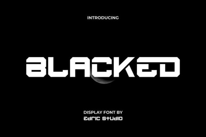 Blacked Display Font