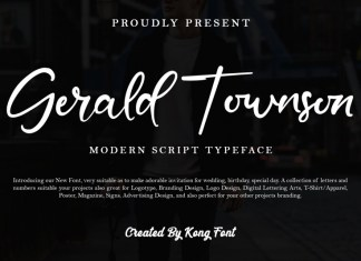 Gerald Townson Script Font
