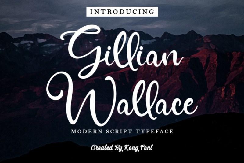 Gillian Wallace Script Font
