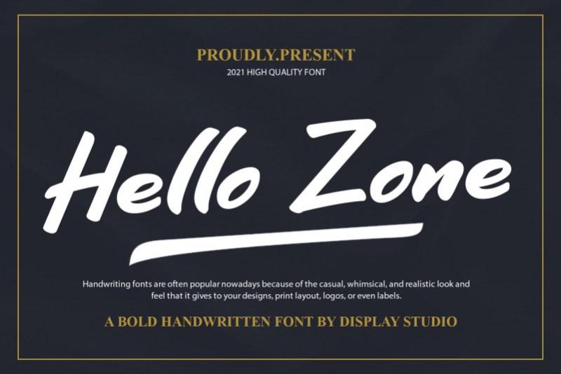 Hello Zone Brush Font