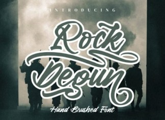 Rock Degun Brush Font