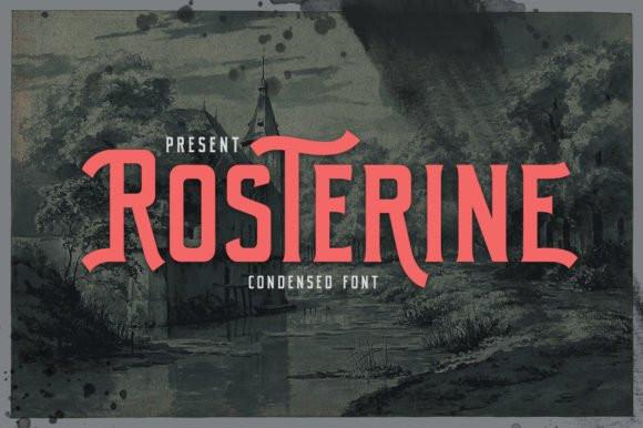 Rosterine Display Font