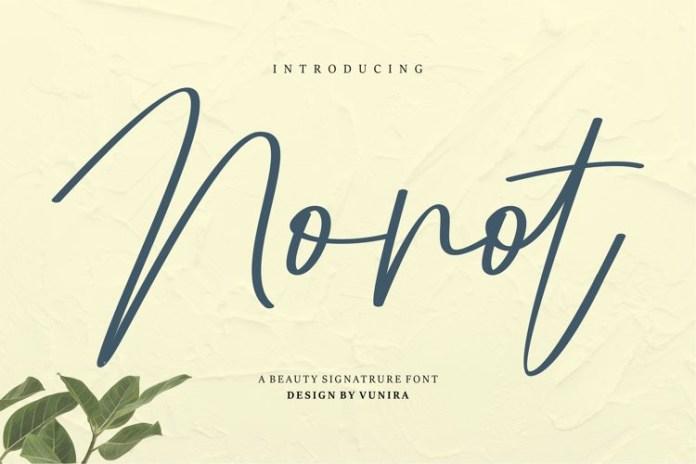 Nonot Handwritten Font