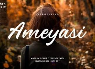 Ameyasi Script Font