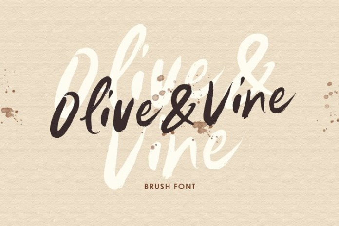 Olive Vine Brush Font