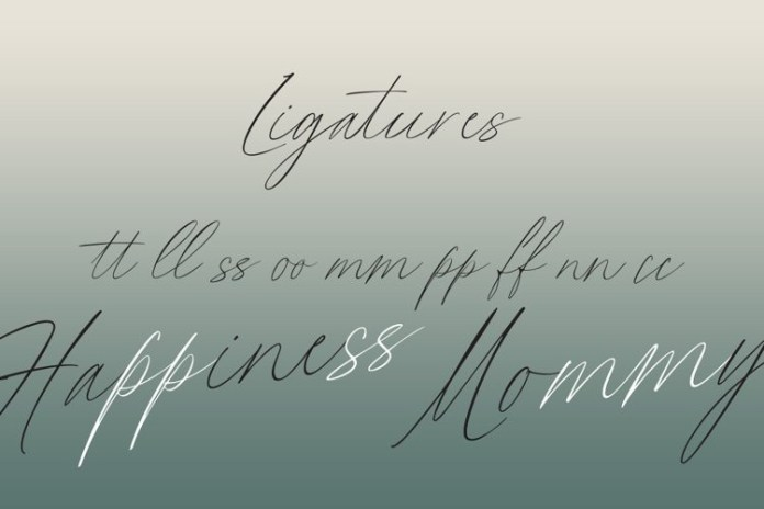 Flumbery White Script Font