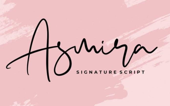 Asmira Script Font
