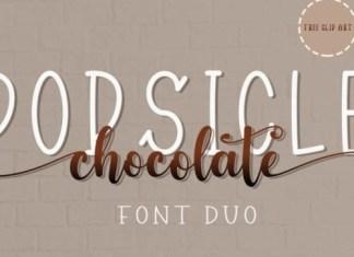 Popsicle Chocolate Script Font