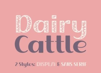 Dairy Cattle Display Font