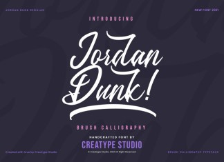 Jordan Dunk Script Font
