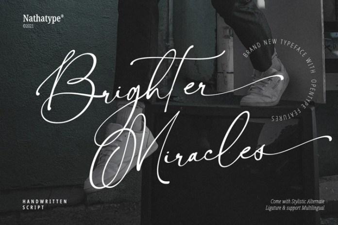 Brighter Miracles Script Font