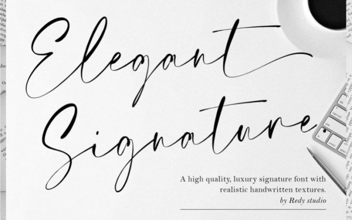 Elegant Signature Script Font