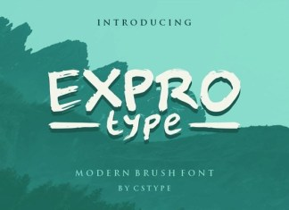 Expro Type Brush Font