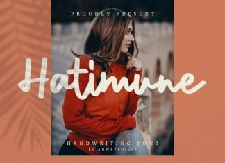 Hatimune Script Font
