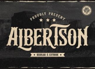 Albertson Display Font