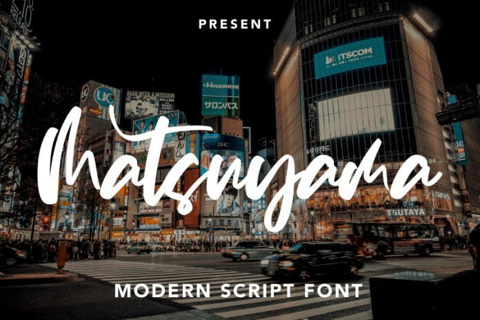 Matsuyama Script Font