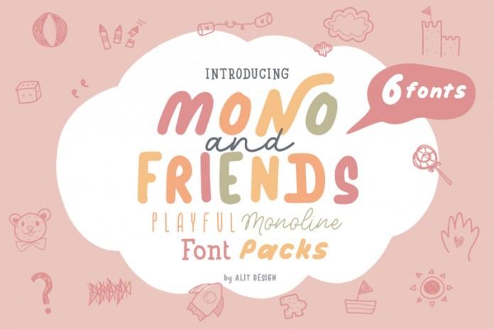 Mono and Friends Handwritten Font
