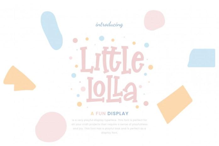 Little Lolla Display Font