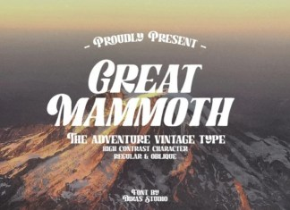 Great Mammoth Display Font
