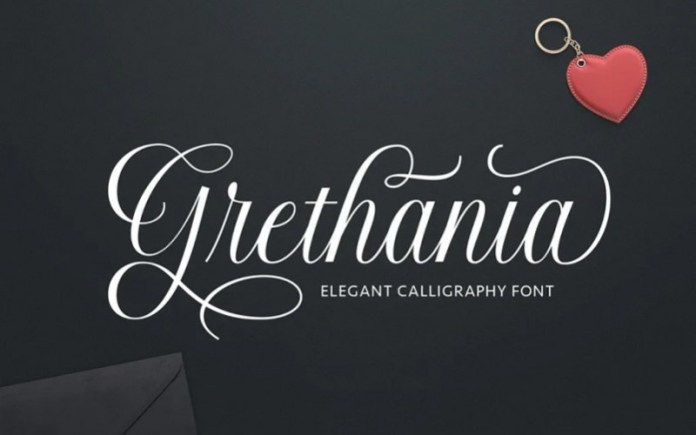 Grethania Calligraphy Font