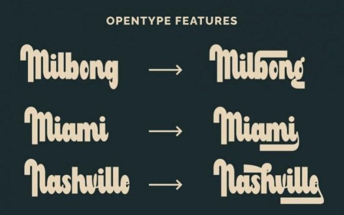 Milbong Script Font