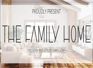 The Family Home Display Font