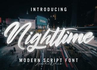 Nighttime Script Font