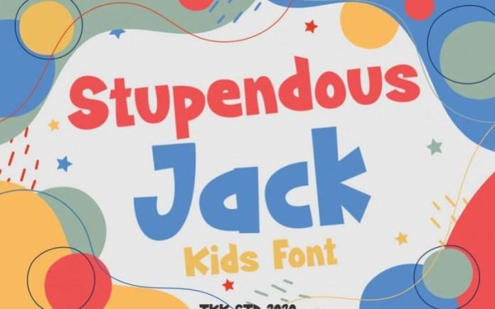 Stupendous Jack Display Font