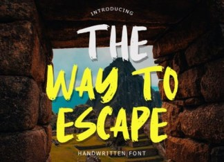 The Way To Escape Brush Font