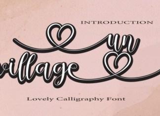 Un Village Calligraphy Font