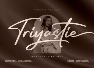 Triyastie Script Font