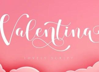 Valentina Calligraphy Typeface