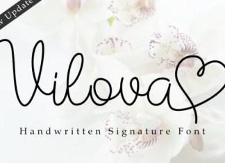 Vilova Handwritten Font