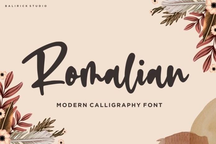 Romalian Script Font