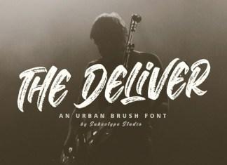 The Deliver Brush Font