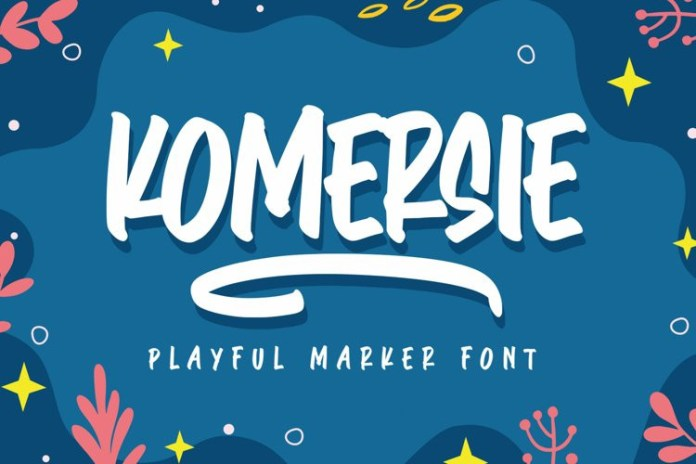 Komersie Brush Font