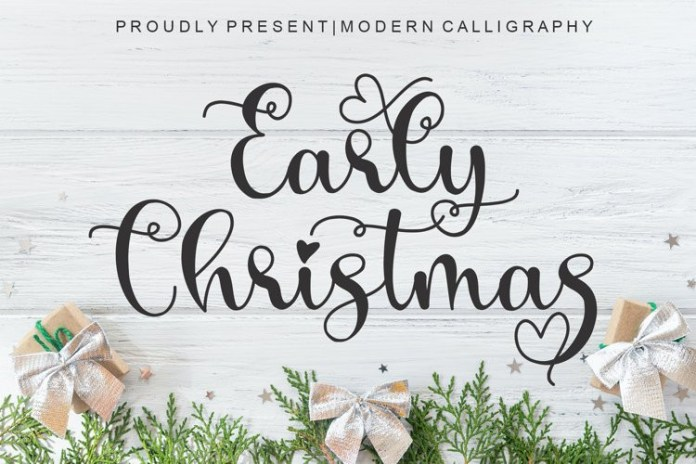 Early Christmas Script Font